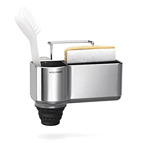 simplehuman Sink Caddy Sponge Holder, Brushed Stainless Steel, Regular
