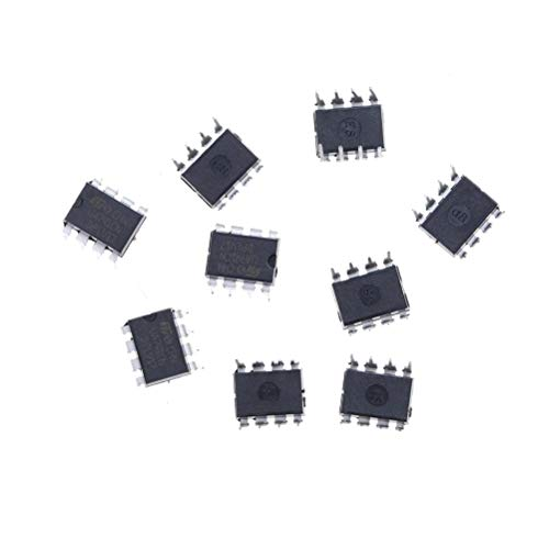 Ic 741-10pcs Ua741cn Lm741 741 Operationele Amplifier Op Amp Dip 8 Ic - 7410 Lm741 Voltage Regulators Stabilizers Potentiometer Slim Hard Disk Flip Flop Capacitor Atmega Resistor met Mobile Drive