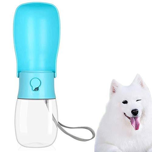 Tazón portátil para mascotas con botella de agua para perros pequeños y...