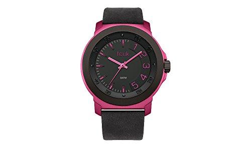 French Connection Damen Analog Quarz Uhr mit Leder Armband FC1150BP