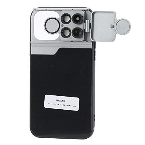 Estuche para accesorios de lentes de teléfono, Estuche para teléfono con lentes múltiples,con lente de filtro de telefoto/macro/ojo de pez/CPL externo, aleación de aluminio, estuche protector d