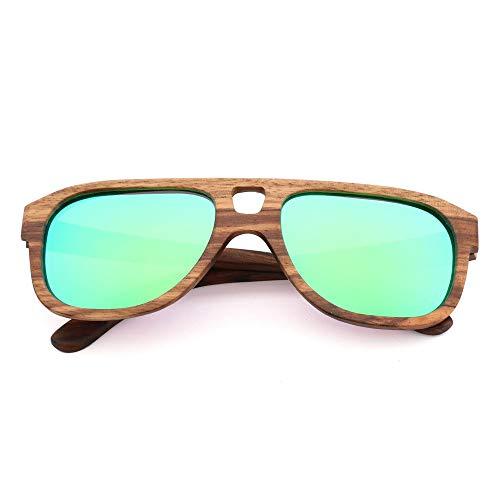 GSSTYJ UV400 gepolariseerde zebra houten zonnebril/handgemaakte brillen voor vrouwen tijdens het reizen, outdoor-sport en activiteiten / als cadeau voor vrienden en familie