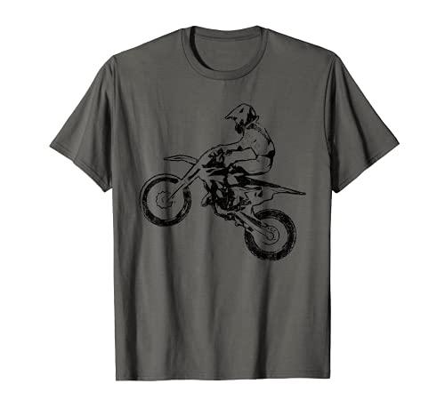 Dirt Bike Jump Motocross Motorcycle Track Racing Biker Gift Camiseta