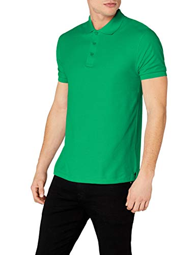 Fruit of the Loom SS035M, Polo Uomo, Verde (Kelly Green), Small