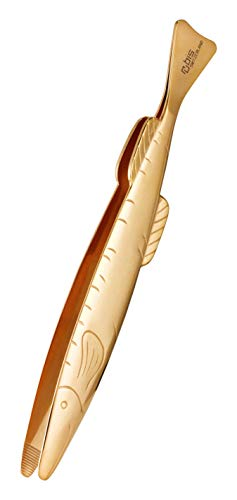 Rubis graptang voor vis in goud - pincet lang voor het verwijderen van graden - roestvrij staal vaatwasmachinebestendig