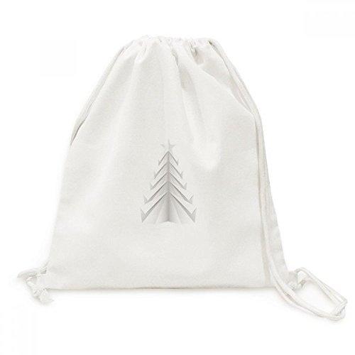 DIYthinker Blanca del Viaje del extracto del árbol de Navidad de Origami de la Lona del morral del Lazo Bolsas de la Compra