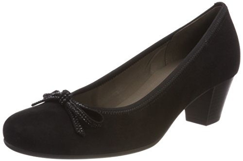 Gabor Shoes Damen Basic Pumps, Schwarz Schwarz, 39 EU