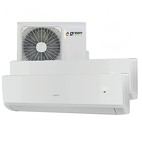 Climatizzatore inverter dual split GREEN ELECTRIC 9000 + 18000 btu R32 A++ A+ WIFI integrato