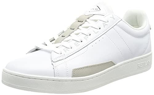 Replay Herren Pinch-Classic Base Sneaker, 061 White, 45 EU