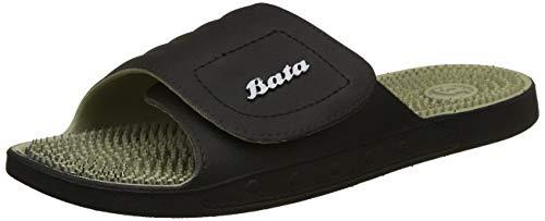 BATA Men Alfred Black Sandals-9 UK (8626090)