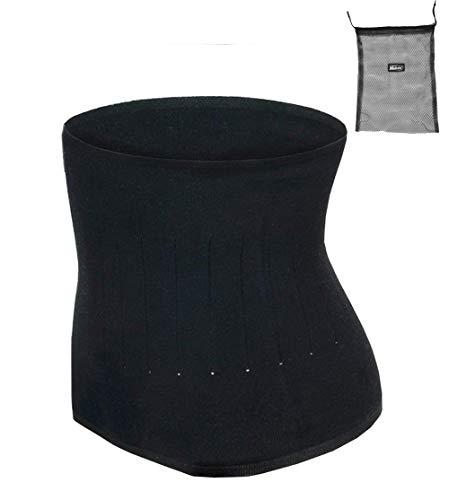 ITODA Wärmegürtel Unisex Rückenwärmer Winter Taillengürtel Nierenschutz Nierengurt Damen Herren Wärmeschutz Gürtel Nierenwärmer Taille Unterstützung Bauchgürtel für Erwachsene Jugendliche Schwarz M