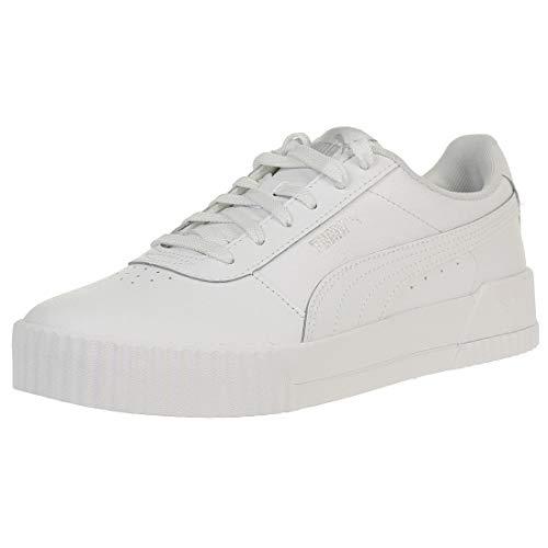 PUMA Carina L, Zapatillas para Mujer, Blanco White White Silver, 39 EU