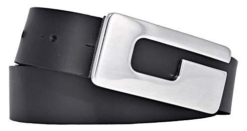 Bernd Götz Damen Leder Gürtel 30 mm schwarz Rindleder Koppelgürtel (85 cm)