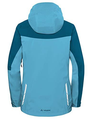 Vaude Damen Moab Rain Jacket Regenjacke für Mountainbikerinnen Jacke, Blau (Crystal Blue), 36 - 2