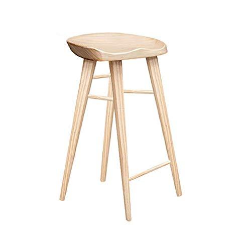 Tägliche Ausrüstung Hochhocker Bar mit quadratischem Bein Massivholz Ideal für Bar Home Couchtisch Hocker Hochhocker für die Küche (Farbe: Abbildung 2 Größe: 394055)