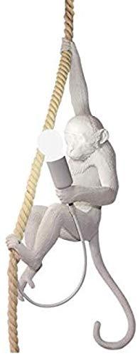 Monkey Lamp Schwarz-Hängend Harz Affe Tischlampe Wandlampe Kronleuchter Stehlampe Schwarz Harz Material E30 kreative Land Retro Kronleuchter Bar Cafe Restaurant Hanf Kronleuchter@whtie Chandelier