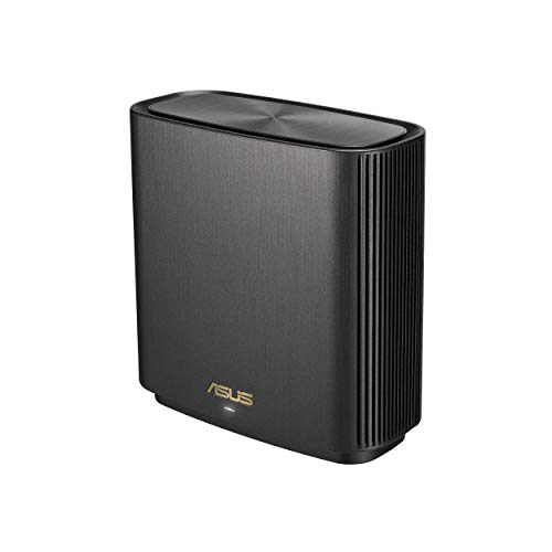 ASUS ZenWiFi AX (XT8) Router Black - AX6600 Whole-Home Tri-Band Mesh WiFi 6 System, Coverage up to 2,750 Sq. ft. or 4+ Rooms, 6.6Gbps WiFi, 3 SSIDs, Life-time Free Network Security & Parental Control