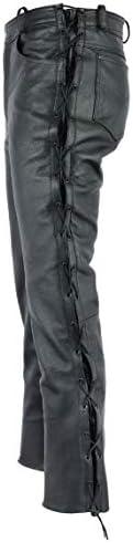 Moto Biker Jeans Colore Nero 34 Gaudi-Leathers Pantaloni da Moto in Pelle Pantaloni da Uomo Moto per Motocicletta