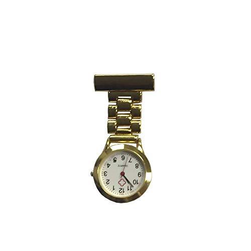 HYY-YY. Krankenschwester-Uhr-Brosche Krankenschwester Revers Pin-Uhr-Clip-on Hanging Medical Taschen-Uhr-Mann-Frauen-Quarz-hängenden Doktor Taschenuhr Krankenschwestern Uhr Sporter Taschenuhr (Farbe: