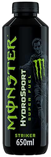 Monster, Striker HydroSport Energy Drink, Gusto Lime e Limone, 650 ml con 200 mg di Caffeina naturale BCAA