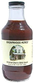 Original Cherry Barbecue Sauce by Brownwood Acres- Handcrafted in Michigan's Cherry Capital - (21 Ounce) Jar