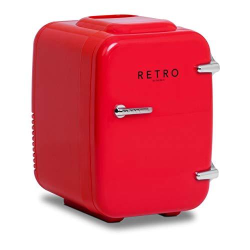 bredeco Mini Frigo Elettrico Frigorifero Portatile BCMF-4L-S (Funzione riscaldante, 4 l, Rosso, ABS, Plastica)