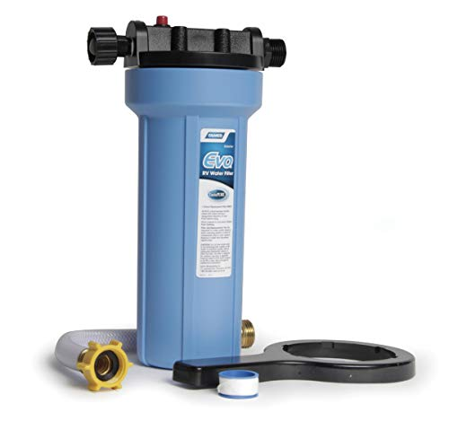 Camco EVO Premium RV/Marine Water Filter, Greatly Reduces Bad Taste, Odor, Sediment, Bacteria, Chlorine And Much More (40631)