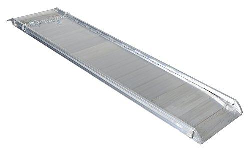 "Vestil AWR-28-10A Aluminum Walk Ramp Overlap Style, 2200 lb, 120"" Length, 28"" Width, 4.75"" Height"