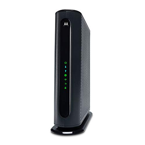 Motorola MG7550 16x4 Cable Modem Plus AC1900 Dual Band WiFi Gigabit Router with Power Boost and DFS, 686 Mbps Maximum DOCSIS 3.0 - Approved by Comcast Xfinity, Cox, Charter Spectrum, More (Black)