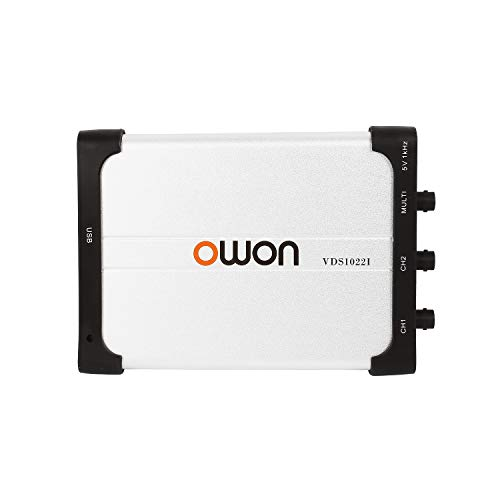 Owon VDS1022I USB PC Virtual Oscilloscope, MIT USB Isolation, 25 MHz Analog Bandwidth