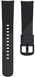 De Galen Bracelet en silicone pour montre connectée Samsung Gear Sport 20 mm - Couleur : noir - Taille : 20 cm