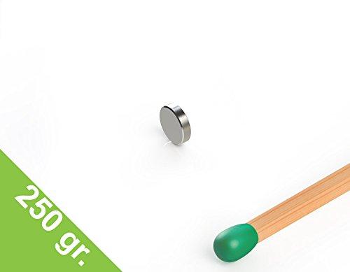 Neodym Scheibenmagnet, 4x1 mm, vernickelt, Grade N45