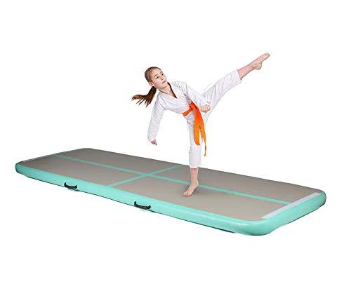 Milliard Air Track Inflatable Gymnastics Tumbling Training Pad Mat With Electric Air Pump 9.84 feet X 3.28 feet X 4 Inches
