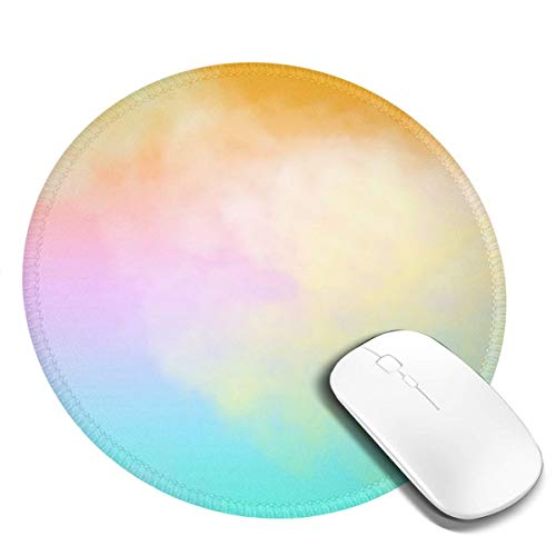 Gaming Gaming Laptop Round Mousepad Home Office Organization, Non-Slip Base, Water-Resistant, for Work & Gaming, Office & Home