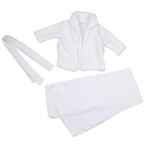 Albornoz para fotografía de bebé, material de mezcla de algodón, para niños y niñas, bonito regalo para bebé(3-6 months)