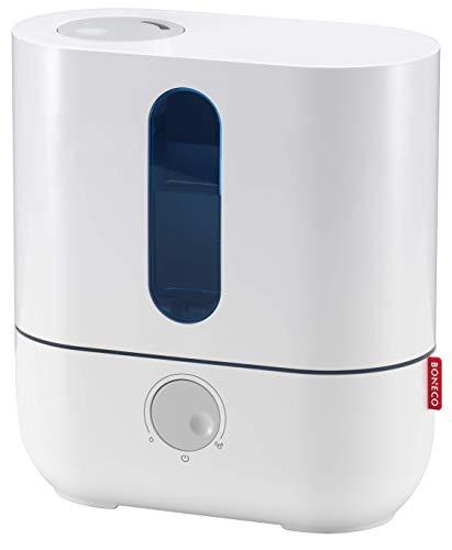 BONECO Luftbefeuchter Vernebler U200 - kühle oder warme Luftbefeuchtung ohne Rückstände - inklusive anti-bakteriellem Ionic Silver Stick®, weiß