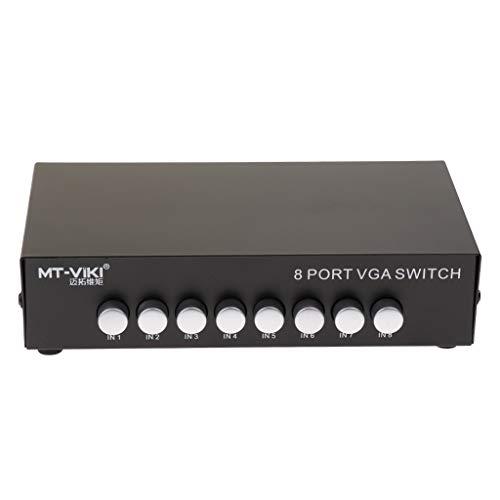 prasku 8 en 1 Salida VGA Interruptor de Intercambio Manual Caja de Conmutación HD para TV
