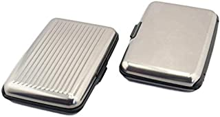 Credit Card Holder Aluminium with RFID Protection 11.5 x 7.2 x 2 cm Wallet Business Card Holder Silver Men's Credit Card C...
