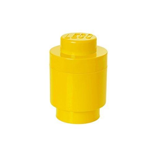 LEGO Aufbewahrungsstein, 1 Noppe, rund, Stapelbare Aufbewahrungsbox, 950 ml, gelb