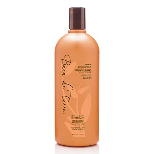 Bain de Terre Keratin Phyto-Protein Strengthening Conditioner, with Argan and Monoi Oil, Paraben-Free, 33.8-Ounce