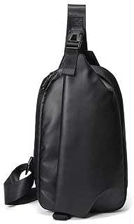 Men's Bags Crossbody Bags - Men Waterproof Chest Bag Sling Bag Minimalist Fashion Shoulder Crossbody Bag - Black -