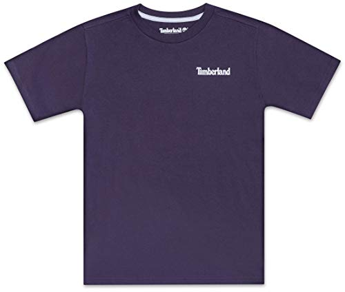 Timberland Jungen Big Boy's Short Sleeve Logo Crew Neck T-Shirt, Grafton Nachtschatten, Mittel