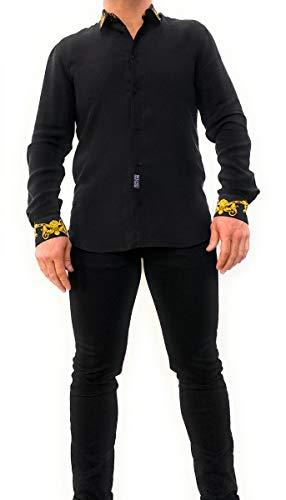Versace Jeans Couture Herren Hemd Baroque Nero 50 EU