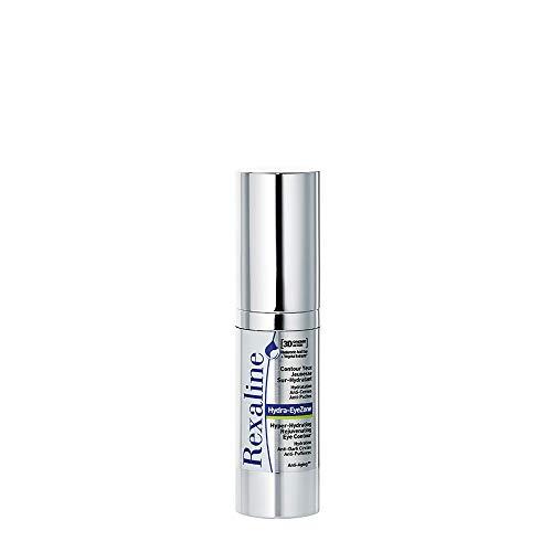 Rexaline Hydra-EyeZone - feuchtigkeitsspendende Augencreme - Anti-Falten, korrigiert Augenringe und Tränensäcke mit Hyaluronsäure für Männer und Frauen - korrigiert Tränensäcke - 15 ml