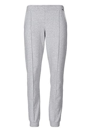 Skiny Damen Sleep & Dream Hose lang Schlafanzughose, Grau (Stone Grey Melange 5593), (Herstellergröße: 36)