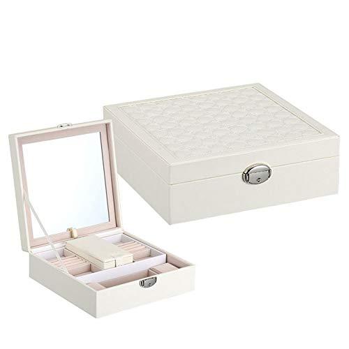 SYKCSR Joyero Caja de Color Puro Multifuncional Caso cosmético Creativo