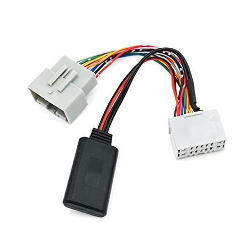 FSLLOVE Receptor de Audio de Coche Auxiliar EN Adaptador Bluetooth FIT para Volvo C30 C70 S40 S60 S70 S80 V40 V50 V70 XC70 XC90 Adaptador de Receptor