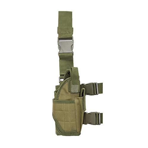 MKXULO Funda de Pierna táctica Ajustable, de caída de Airsoft, Funda de Pierna de Pistola Dispositivo de extracción rápida Adaptable,F