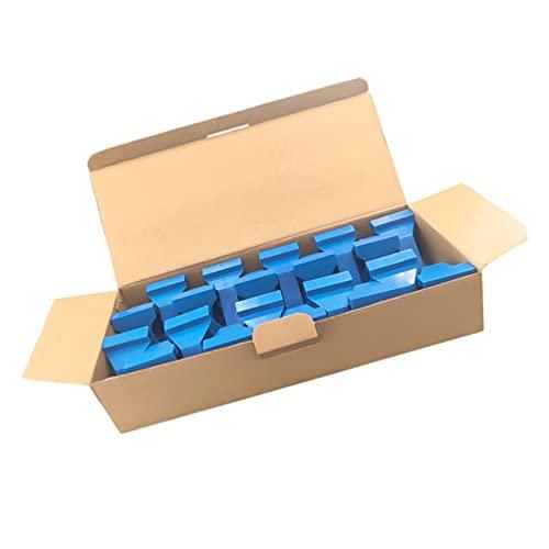 Scicalife 20 Piezas de Espaciador de Pisos de Madera Laminada Herramientas de Suelo para Tablones de Vinilo de Madera Dura Flotación Suelo Suministros de Instalación Azul