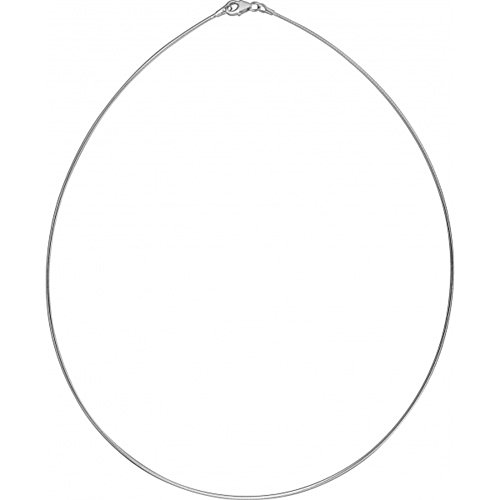 Silber Omegareif 1,9 mm hochwertige Goldschmiedearbeit aus Deutschland (Sterling Silber 925) Halsreif Tonda Kette - Hals Reifen - flexibel - Damen